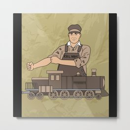 Model Railway Locomotive Hobby Metal Print