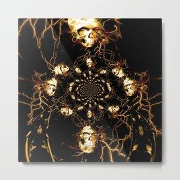 Skull fractal Metal Print
