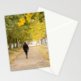 Walking in Autumn Stationery Cards