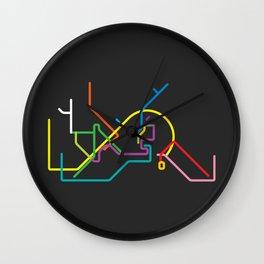 istanbul metro map Wall Clock