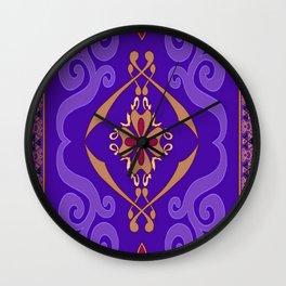 Aladdin Purple Magic Carpet Wall Clock