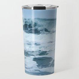 Crashing Waves in Spring Travel Mug