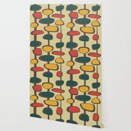 Mid Century Modern Baubles (gold) Wallpaper