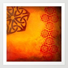 Abstract heat Art Print
