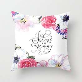 Joy - Psalm 30:5 Throw Pillow