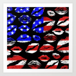 Kiss The Flag Art Print