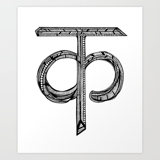 Hindi Alphabet C/K Art Print