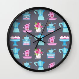 Coffee coffee, coffee pot, moka, espresso, coffee cup, coffee and cake, christmas coffee, coffee mak Wall Clock