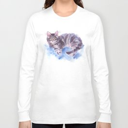 Azure Purr Long Sleeve T-shirt
