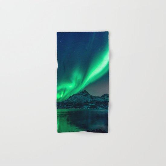 Aurora Borealis (Northern Lights) Hand & Bath Towel