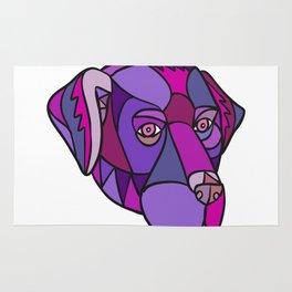 Labrador Retriever Dog Head Mosaic Color Rug