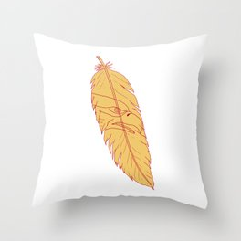 Sea Eagle Head Inside Feather Drawing Throw Pillow