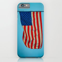 Old Glory Glowing in a Blue Sky American Flag iPhone Case