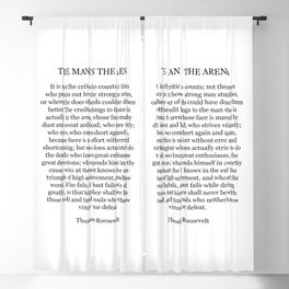 The Man In The Arena, Theodore Roosevelt Quote Blackout Curtain