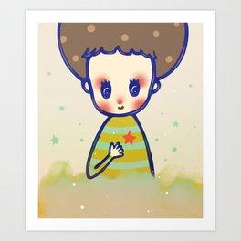 the little star in my heart Art Print