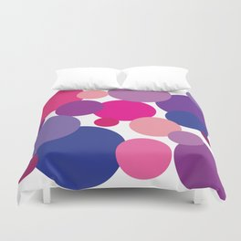 Cool Colors Bubble Circles Duvet Cover