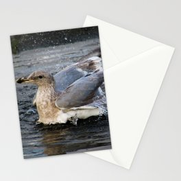 puddle bath Stationery Cards