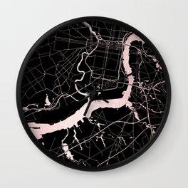 Philadelphia - Black and Rose Gold Wall Clock