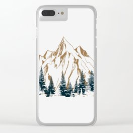 mountain # 4 Clear iPhone Case