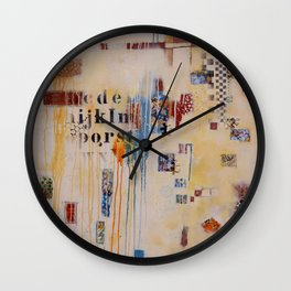 """""""Falling into Place"""" Wall Clock"""