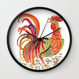 Rooster and chicks Wall Clock