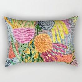 Space Flowers Rectangular Pillow
