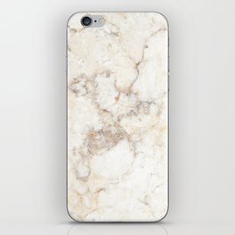 Marble Natural Stone Grey Veining Quartz iPhone Skin