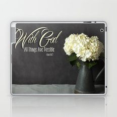 With God All Things Are Possible - Hydrangea Flower Laptop & iPad Skin