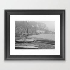 Fog Over Dover Framed Art Print