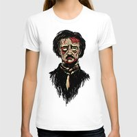 edgar allan poe T-shirts featuring Edgar Allan Poe Zombie by Joey Gates