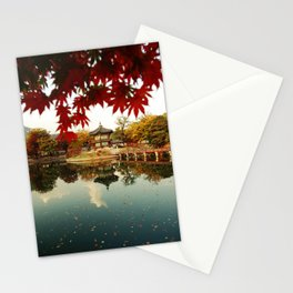 Autumn Gyeongbokgung palace, Seoul, Korea Stationery Cards