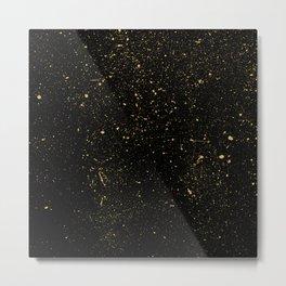 Paint Splatter night sky Metal Print