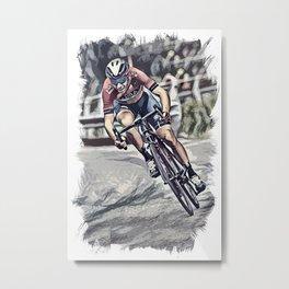 Peloton Pro Cyclist World Tour Race Metal Print