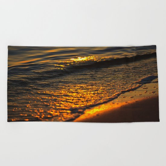 Gold Waters Beach Towel