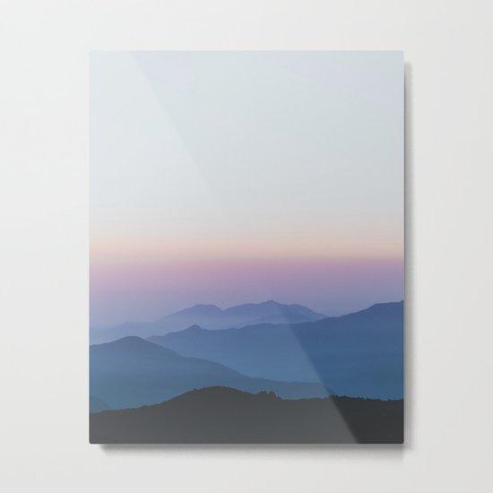 Sunset in the Annapurnas Metal Print