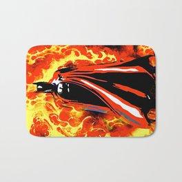 Bat on Fire Bath Mat