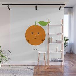 Orange character Wall Mural