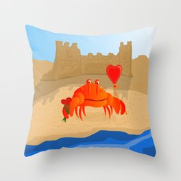 Crabby Suitor Throw Pillow
