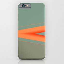 Army Green Orange Stripe iPhone Case
