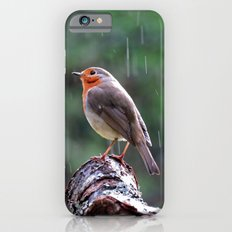 Robin in the rain iPhone 6s Slim Case