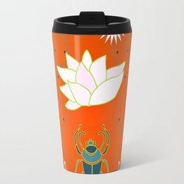 Egyptian Design - Salmon Gold Travel Mug