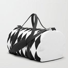 LARGE  WHITE AND BLACK   HARLEQUIN DIAMOND PATTERN Duffle Bag