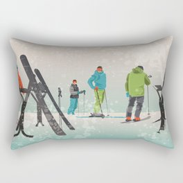 Skiers Summit Rectangular Pillow