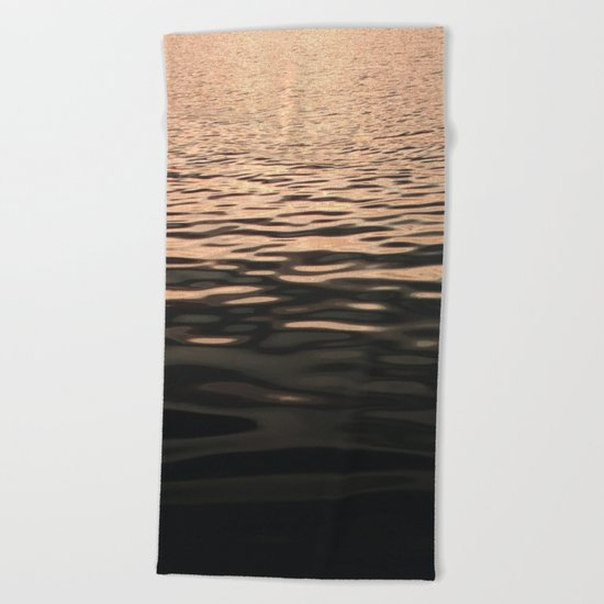 Liquid Sunset Beach Towel