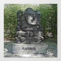 ganesha Canvas Prints featuring Ganesha by Lucia