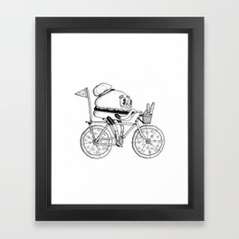 Pizzabike Burger Framed Art Print