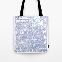 PRINCETON university map NEW JERSEY dorm decor Tote Bag