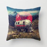 rhino Throw Pillows featuring Rhino by Ali GULEC