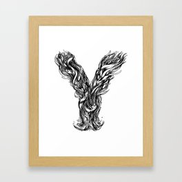 The Illustrated Y Framed Art Print