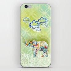 Elephant and Flowers iPhone & iPod Skin